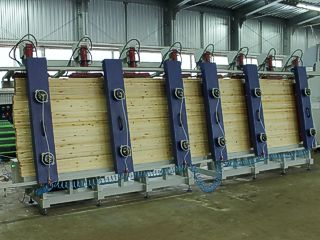 Гидравлический пресс для производства бруса Эльбрус-1Г